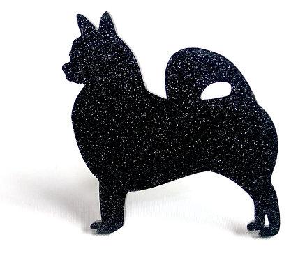 CHIHUAHUA (LONG COAT) - Standard Black Glitter