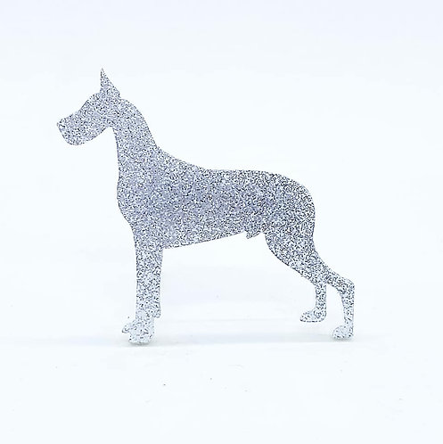 GREAT DANE - Standard Silver Glitter