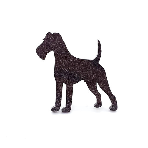 IRISH TERRIER - Standard Black Glitter