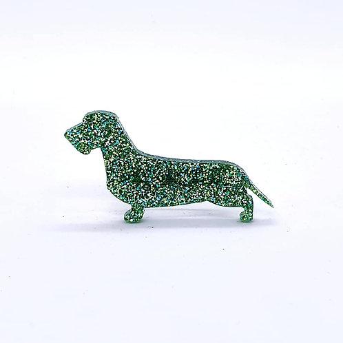 DACHSHUND (WIRE HAIRED) - Premium Green Golden