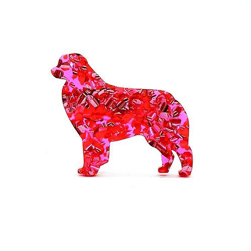 AUSTRALIAN SHEPHERD (STANDING) - Chunky Hot Pink