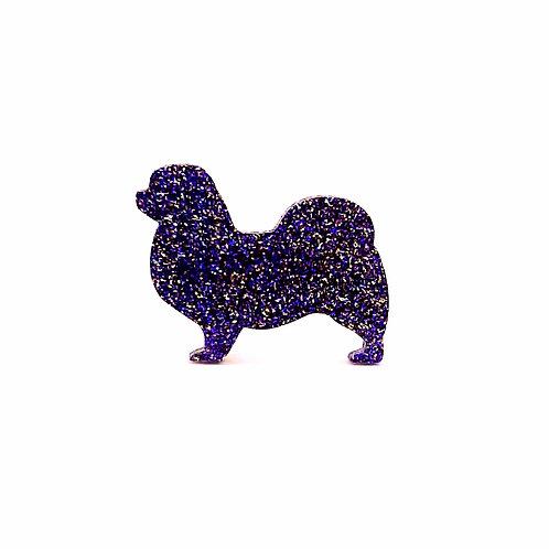 TIBETAN SPANIEL - Premium Holographic Purple
