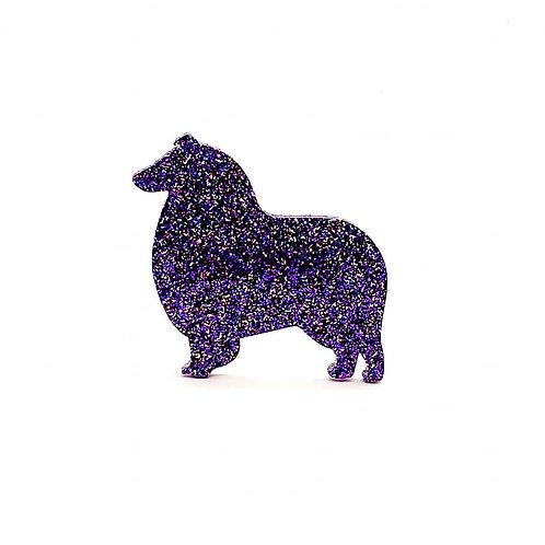 COLLIE (ROUGH) - Premium Holographic Purple
