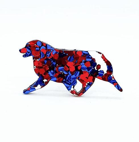 AUSTRALIAN SHEPHERD (MOVING) - Chunky Blue & Red