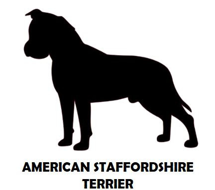 2Silhouette Sample - American Staffordsh