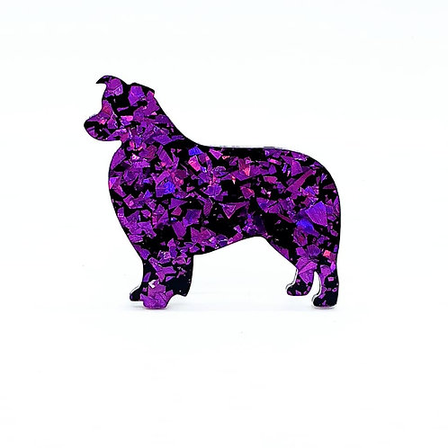 BORDER COLLIE - Chunky Shard Violet