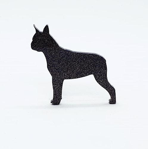 BOSTON TERRIER - Standard Black Glitter