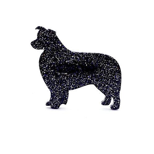 BORDER COLLIE - Premium Holographic Black