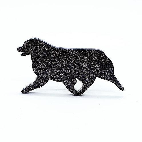 AUSTRALIAN SHEPHERD (MOVING) - Standard Black Glitter