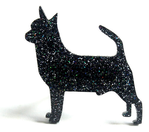 CHIHUAHUA (SMOOTH COAT) - Premium Holographic Black