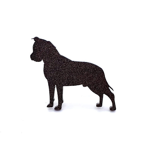 AMERICAN STAFFORDSHIRE TERRIER - Standard Black Glitter