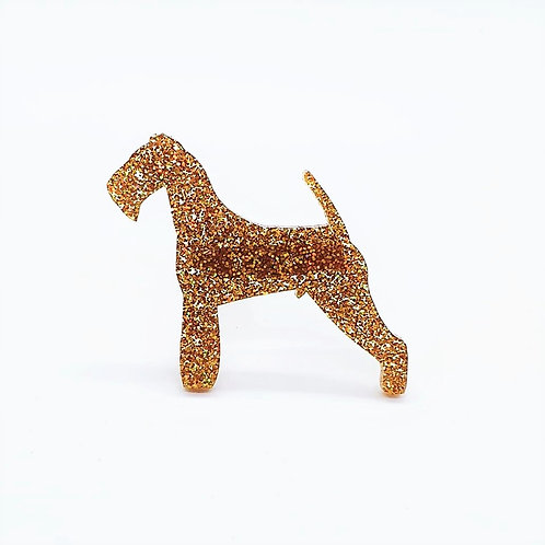 AIREDALE TERRIER - Premium Holographic Amber
