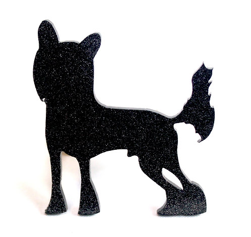 CHINESE CRESTED - Standard Black Glitter