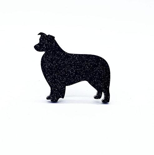 BORDER COLLIE - Standard Black Glitter