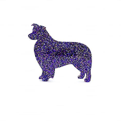 BORDER COLLIE - Premium Holographic Purple