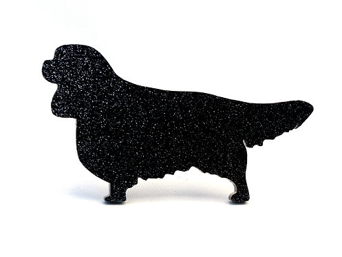 CAVALIER KING CHARLES SPANIEL - Standard Black Glitter