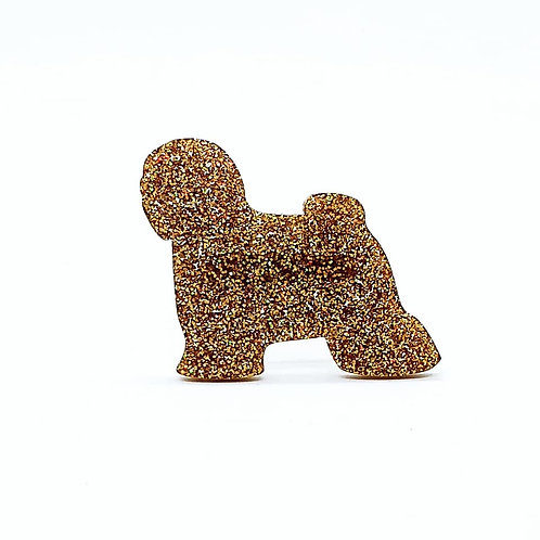 TIBETAN TERRIER - Premium Holographic Amber