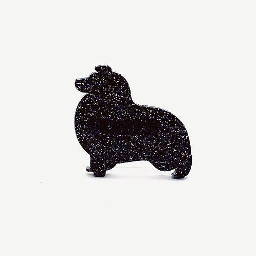 SHETLAND SHEEPDOG - Premium Holographic Black