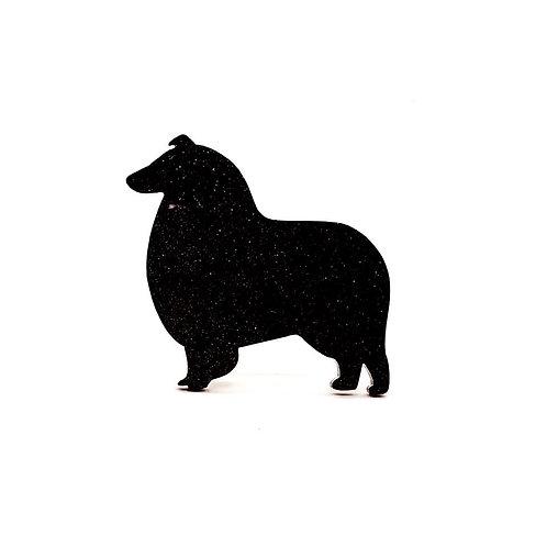 COLLIE (ROUGH) - Standard Black Glitter