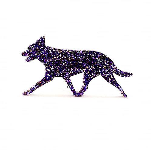AUSTRALIAN KELPIE (MOVING) - Premium Holographic Purple