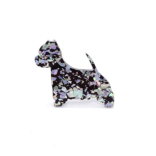 WEST HIGHLAND WHITE TERRIER - Chunky Shard Silver