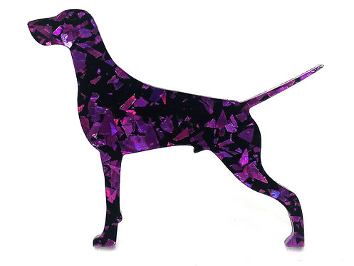 GERMAN SHORTHAIRED POINTER - Chunky Shard Violet