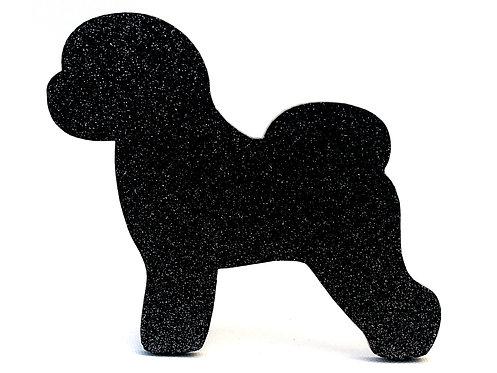 BICHON FRISE - Standard Black Glitter