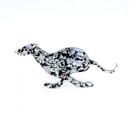 WHIPPET (TUCKED) - Chunky Shard Silver