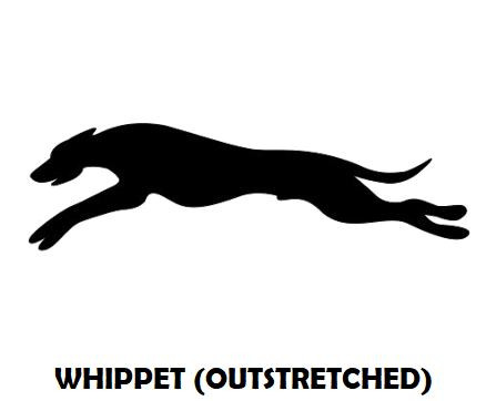 4Silhouette Sample - Whippet Outstretche