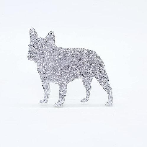 FRENCH BULLDOG - Standard Silver Glitter