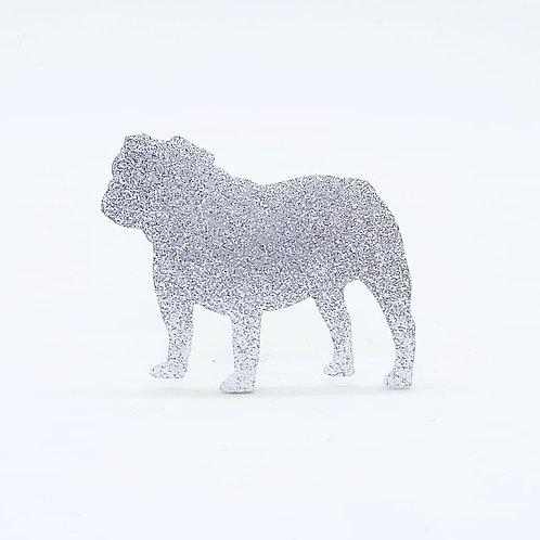 BRITISH BULLDOG - Standard Silver Glitter