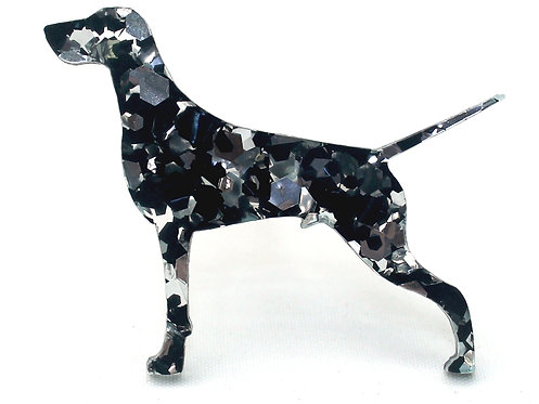 GERMAN SHORTHAIRED POINTER - Chunky SIlver & Black