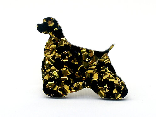 COCKER SPANIEL (AMERICAN) - Chunky Black & Gold