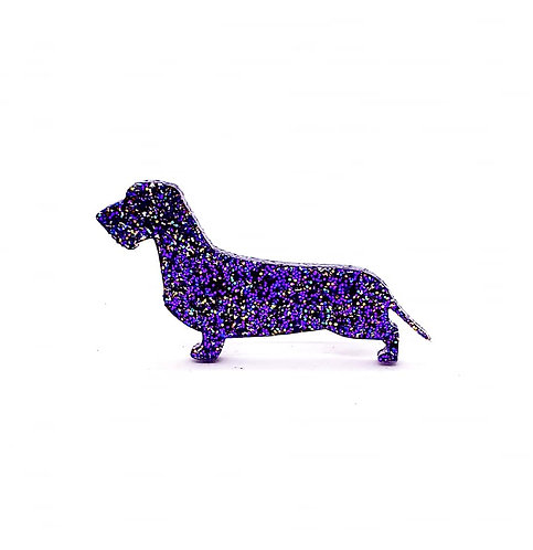 DACHSHUND (WIRE HAIRED) - Premium Holographic Purple