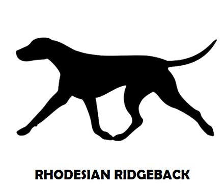 4Silhouette Sample - Rhodesian Ridgeback