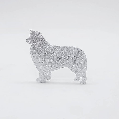 BORDER COLLIE - Standard Silver Glitter