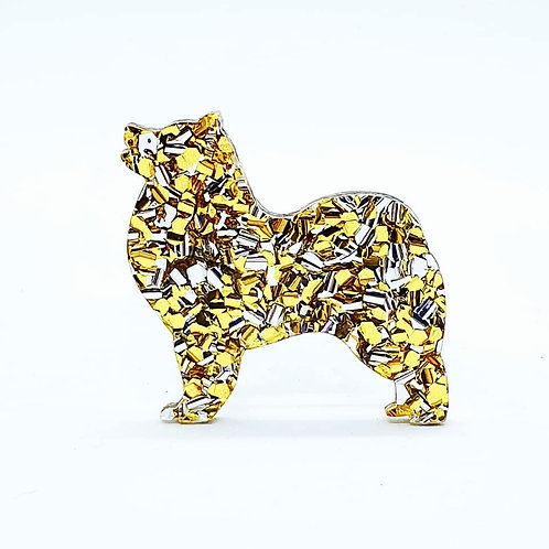 SAMOYED - Chunky Yellow Gold & Silver