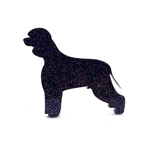 IRISH WATER SPANIEL - Standard Black Glitter