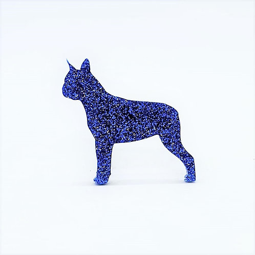 BOSTON TERRIER - Premium Royal Blue