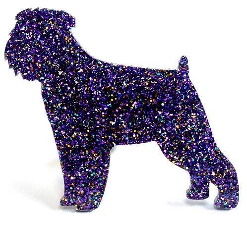 GRIFFON BRUXELLOIS - Premium Holographic Purple