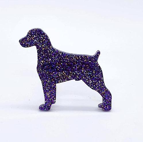 BRITTANY SPANIEL - Premium Holographic Purple