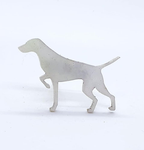 GERMAN SHORTHAIRED POINTER (POINTING) - Shimmer White