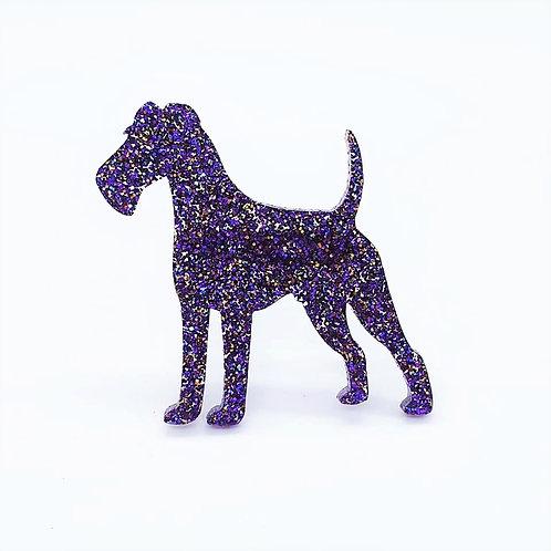 IRISH TERRIER - Premium Holographic Purple