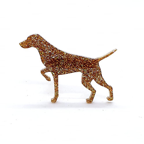 GERMAN SHORTHAIRED POINTER (POINTING) - Premium Holographic Amber