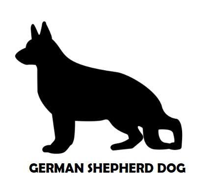 5Silhouette Sample - German Shepherd Dog