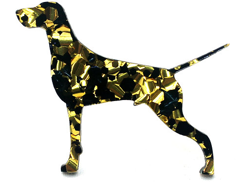 GERMAN SHORTHAIRED POINTER - Chunky Black & Gold