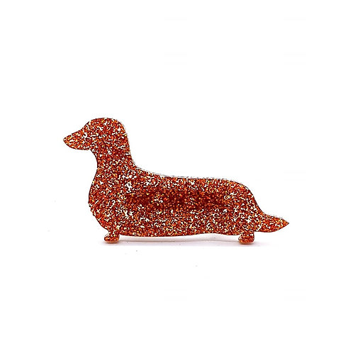 DACHSHUND (LONG HAIRED) - Premium Holographic Copper