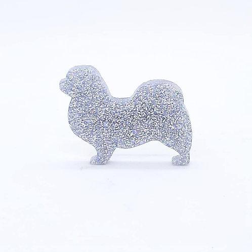 TIBETAN SPANIEL - Premium Holographic Silver