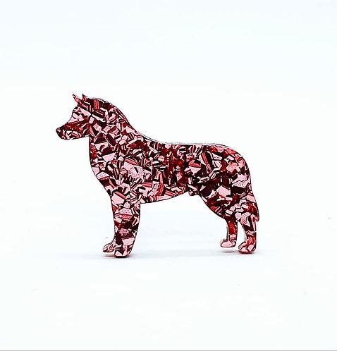SIBERIAN HUSKY - Chunky Rose Gold
