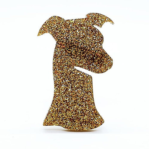 WHIPPET (HEAD) - Premium Gold